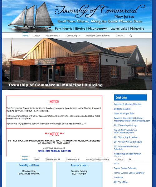 Township of Commercial web design