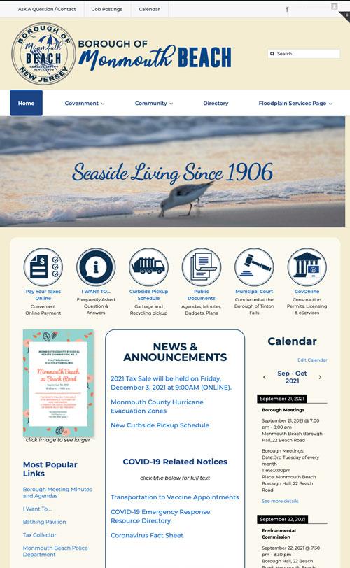 Borough of Monmouth Beach Web Design