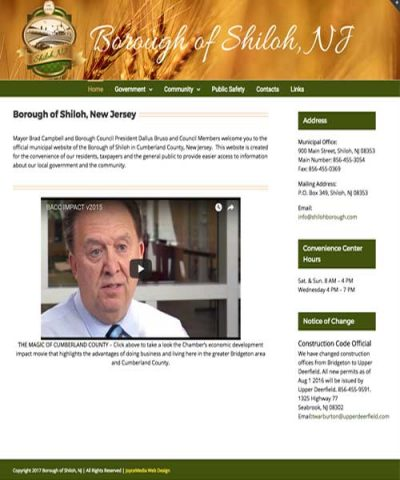 Borough of Shiloh Joyce Media Web Design