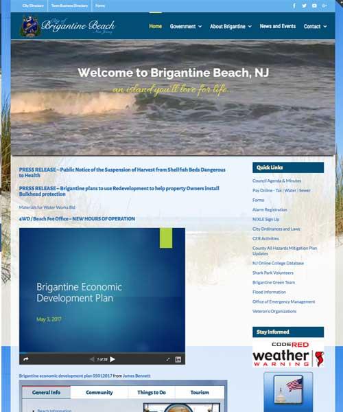 City of Brigantine Beach website design