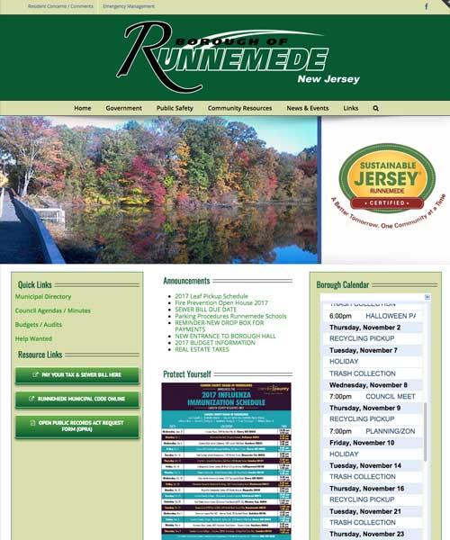 Borough of Runnemede Website Design