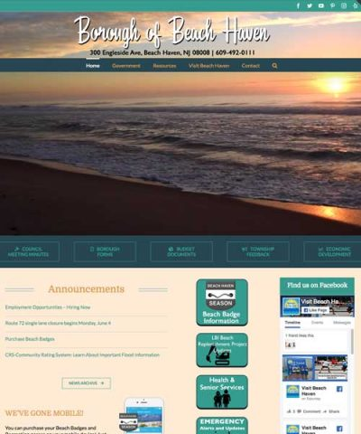 Borough of Beach Haven Joyce Media Web Design